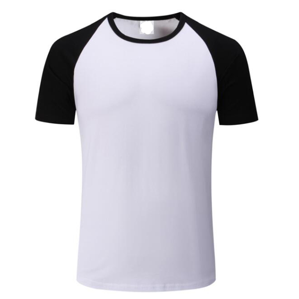 High quality wholesale blank cotton sports T shirt with raglan sleeve