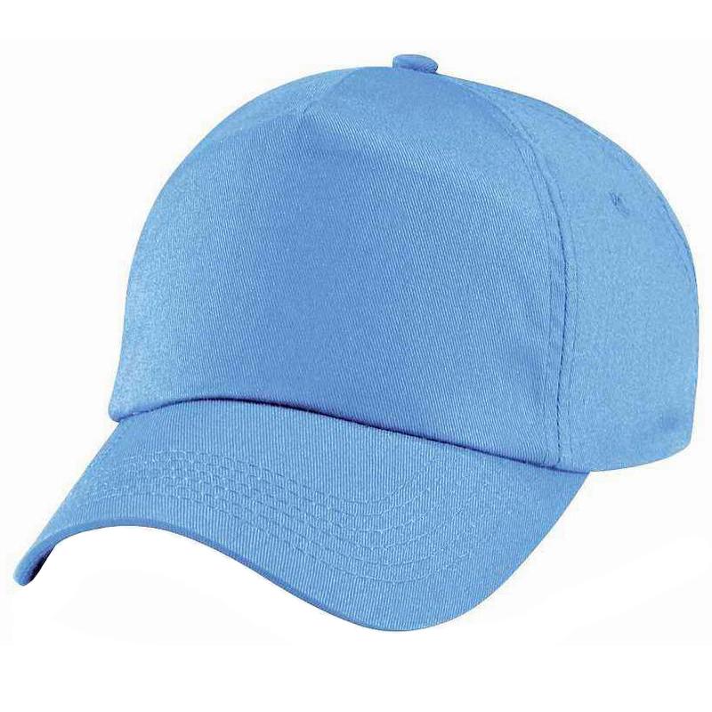 Customized promotional plain 5 panel cotton cap