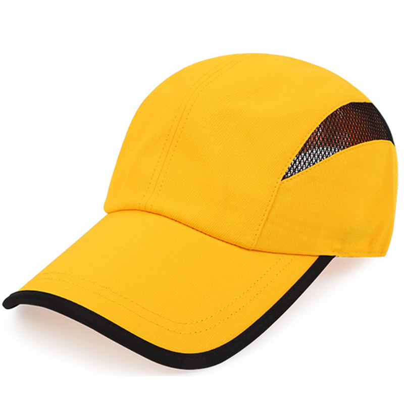 Custom blank polyester sport cap with mesh
