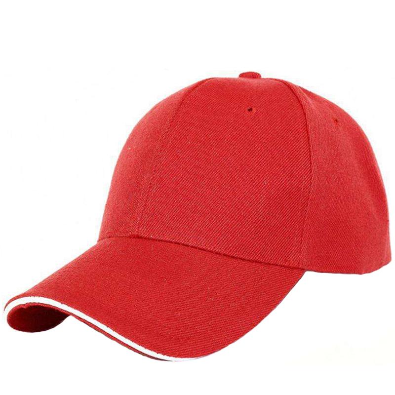 Stylish plain acrylic baseball cap with sandwich brim