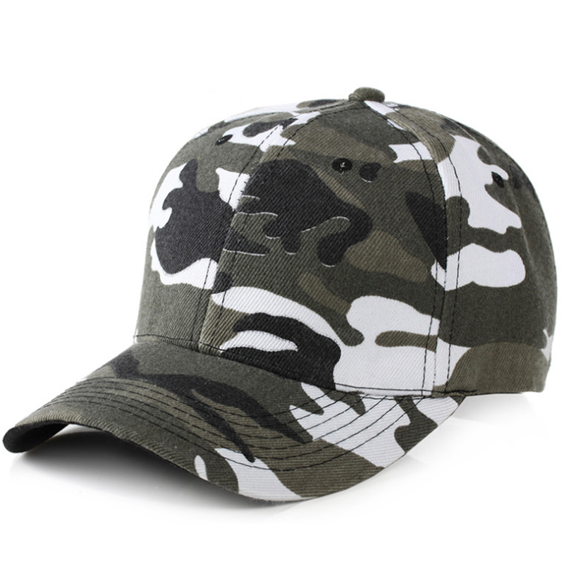 Heavy brushed cotton camouflage cap