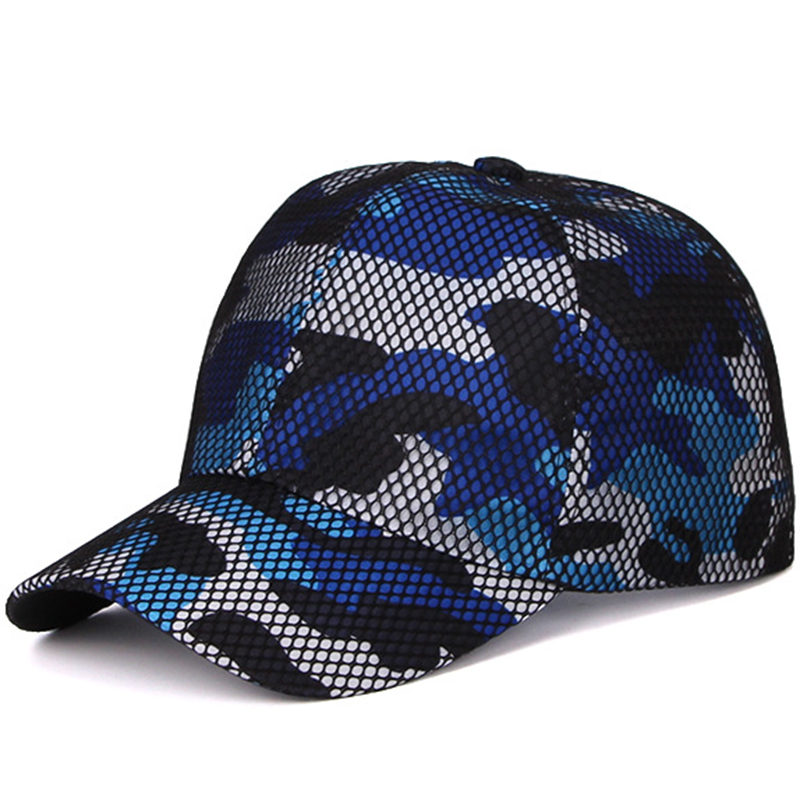Fashion bespoke cap made by camouflage combined mesh fabric