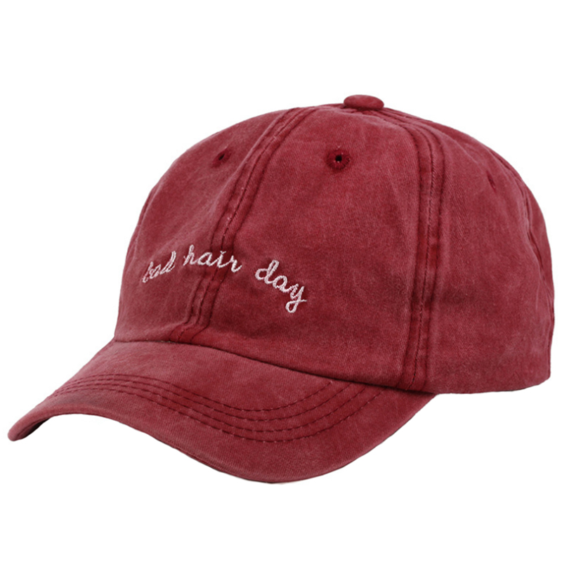 Personalized premium solid color garment washed casual cap