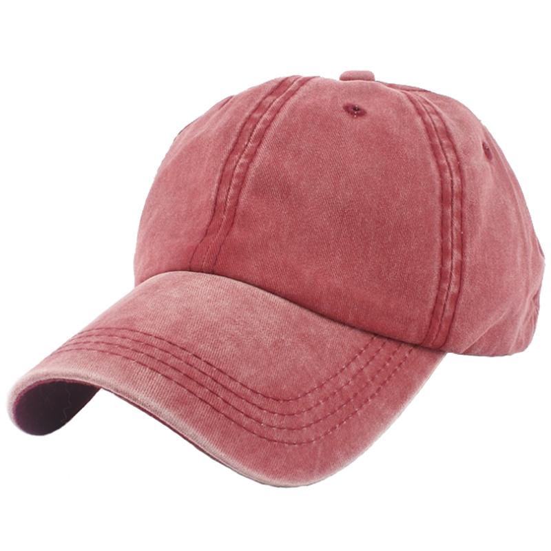 Garment washed promotional solid color adjustable baseball cap