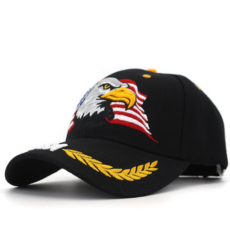 Promotional event acrylic USA hat with eagle embroidery logo