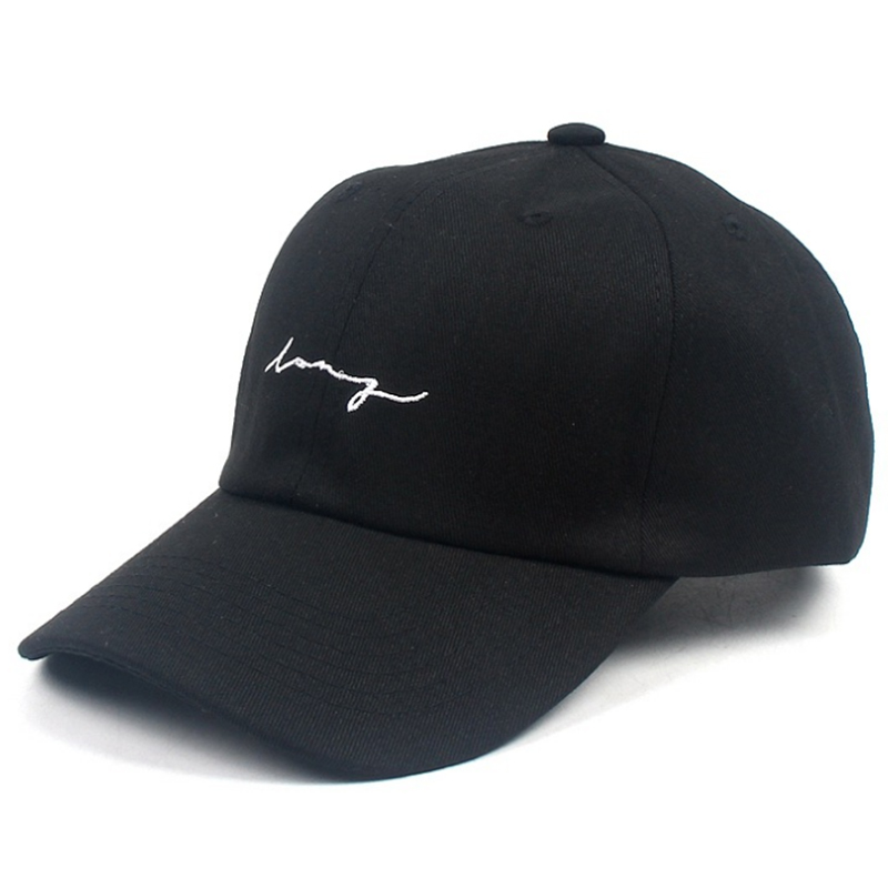 Cotton twill simple embroidery sport cap