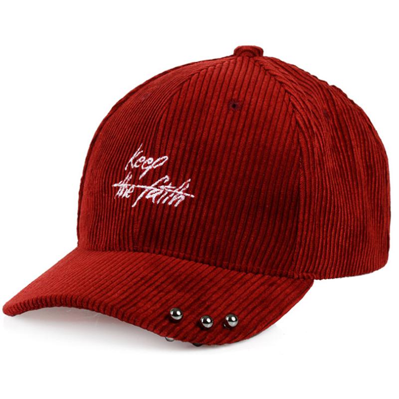 Custom embroidered vintage corduroy cap