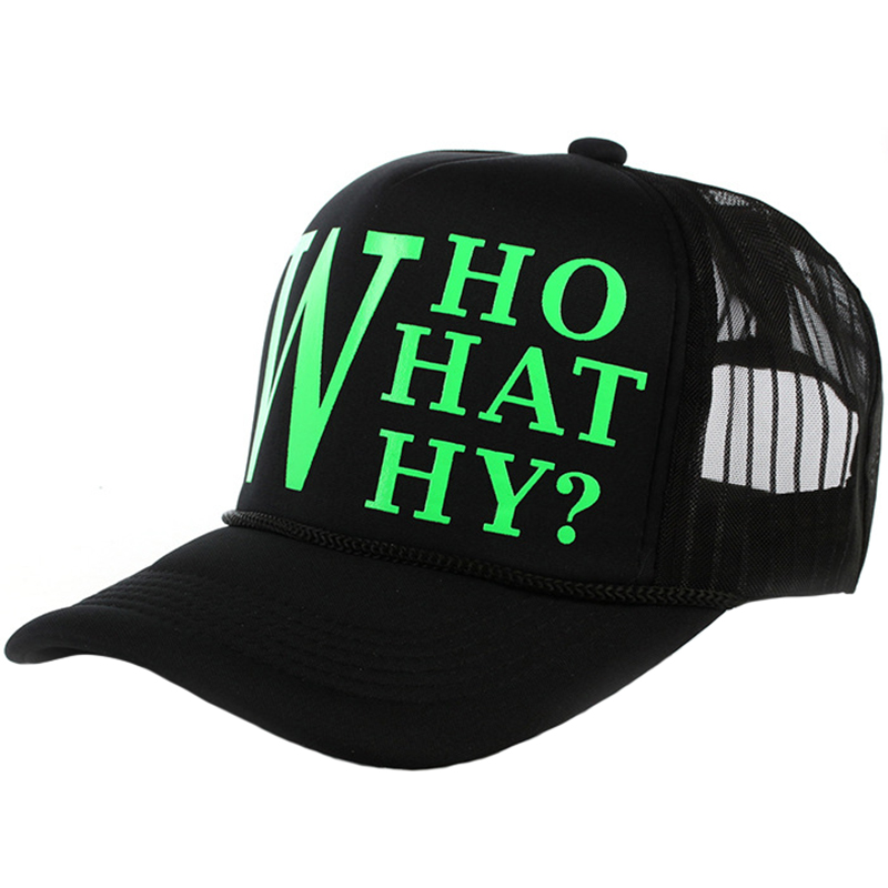 Trucker mesh hat with string and luminous logo