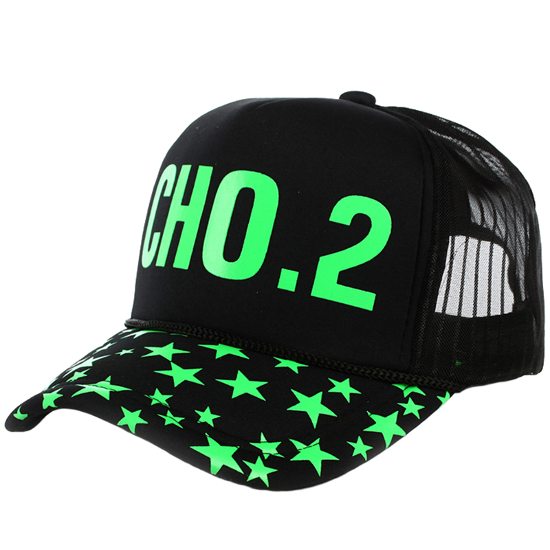 5 panels promotion hat with mesh back and luminous logo