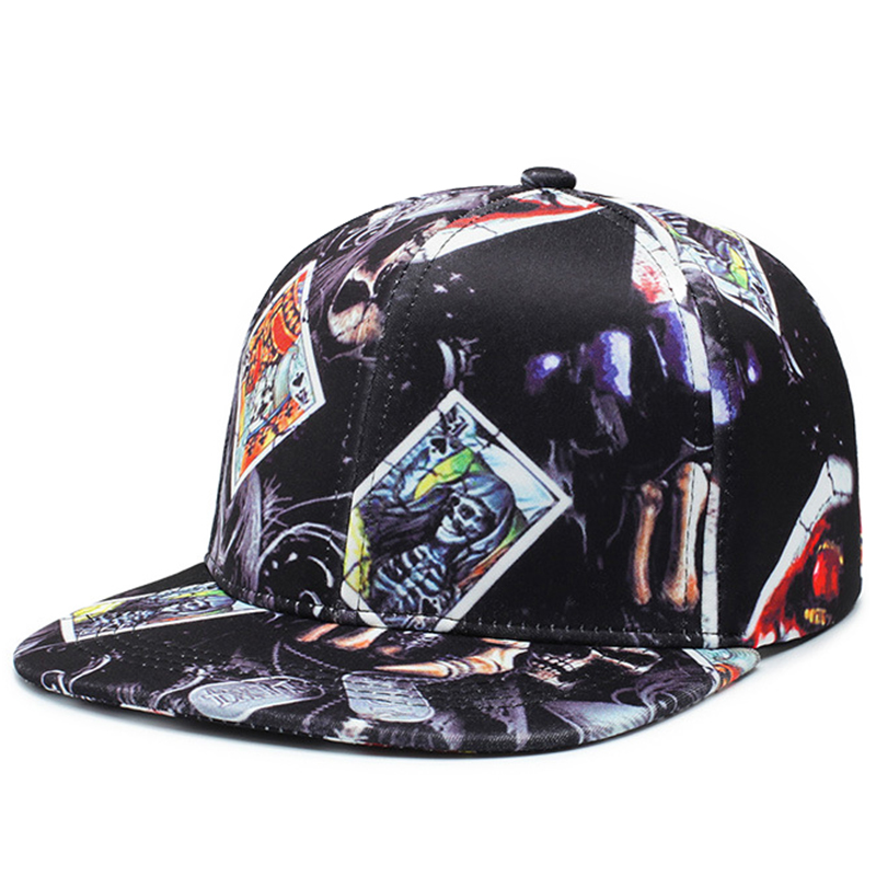 Women's sublimation printing polyester snapback hat