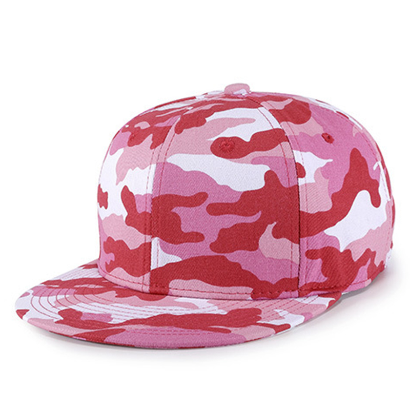 Women's fashion pink camouflage snapback summer caps