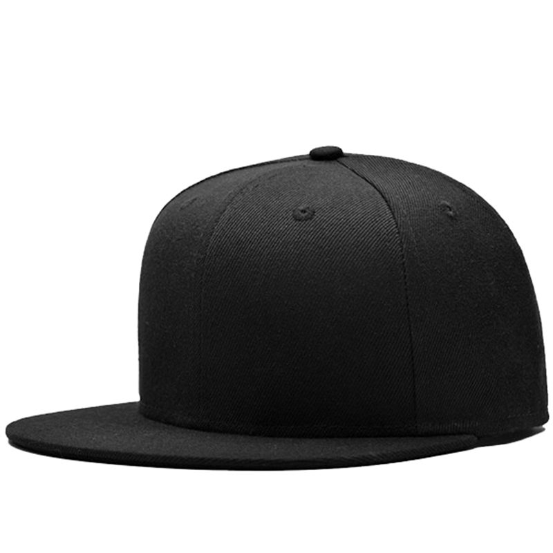 Wholesale promotion black plain snapback hat at very competitive price