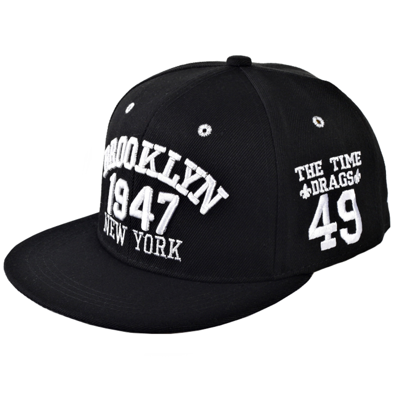 Contrast color street wear custom made 3D puff embroidery logo fitted hat