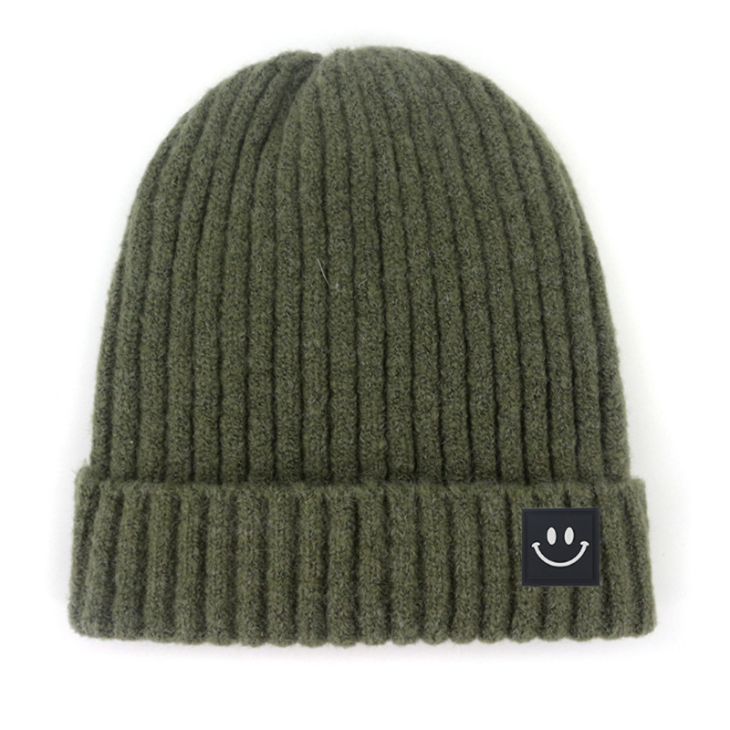 Solid color winter knitted sock cap