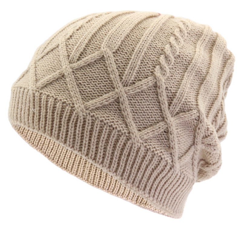 Cable crochet oversize slouchy beanie