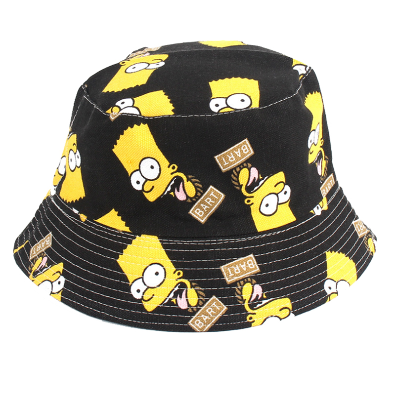 Bespoke high quality cotton canvas kids funny bucket hat