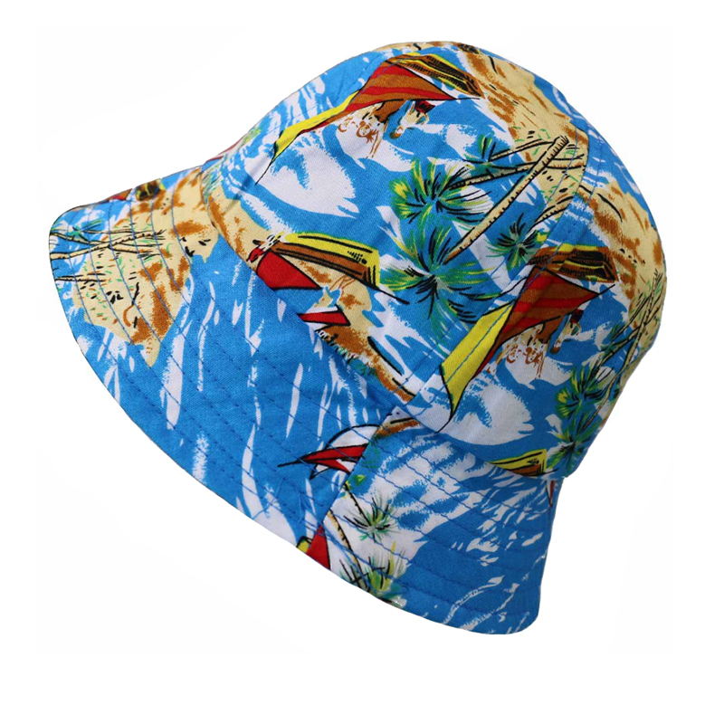 Special design 6 panels crown bucket hat