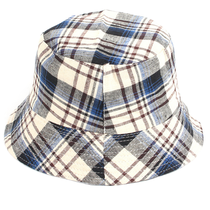 Cotton fabric plaid pattern fashion leisure hat