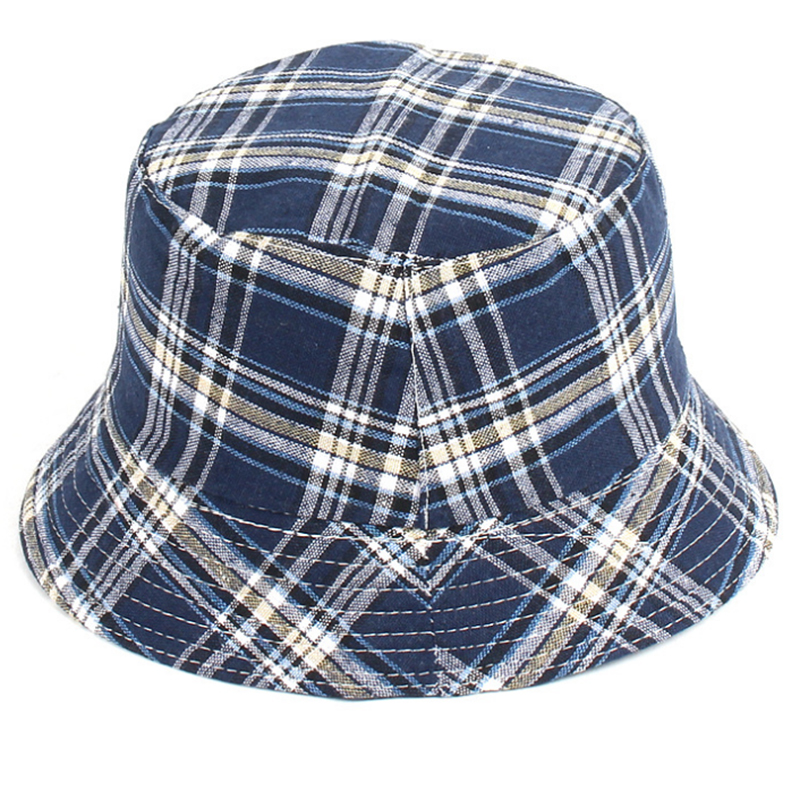 Check patterns promotional bucket hat