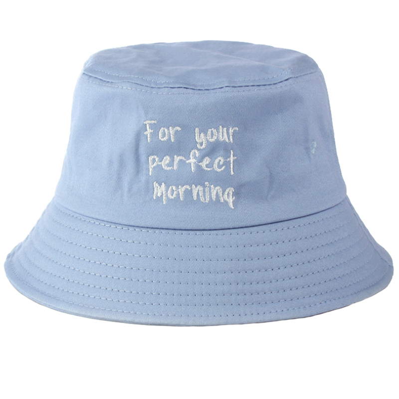 Custom flat embroidery promotion fisherman's hat
