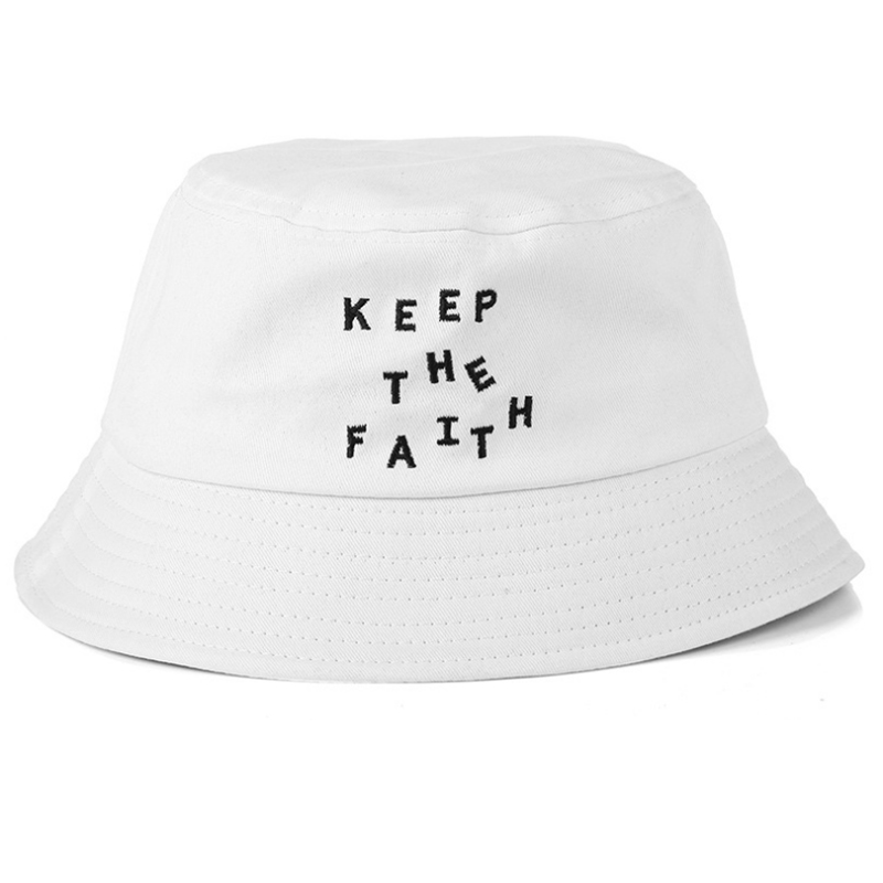 Competitive price contrast color embroidery cotton bucket hat