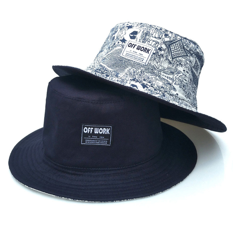 Reversible fashion design cotton bucket hat