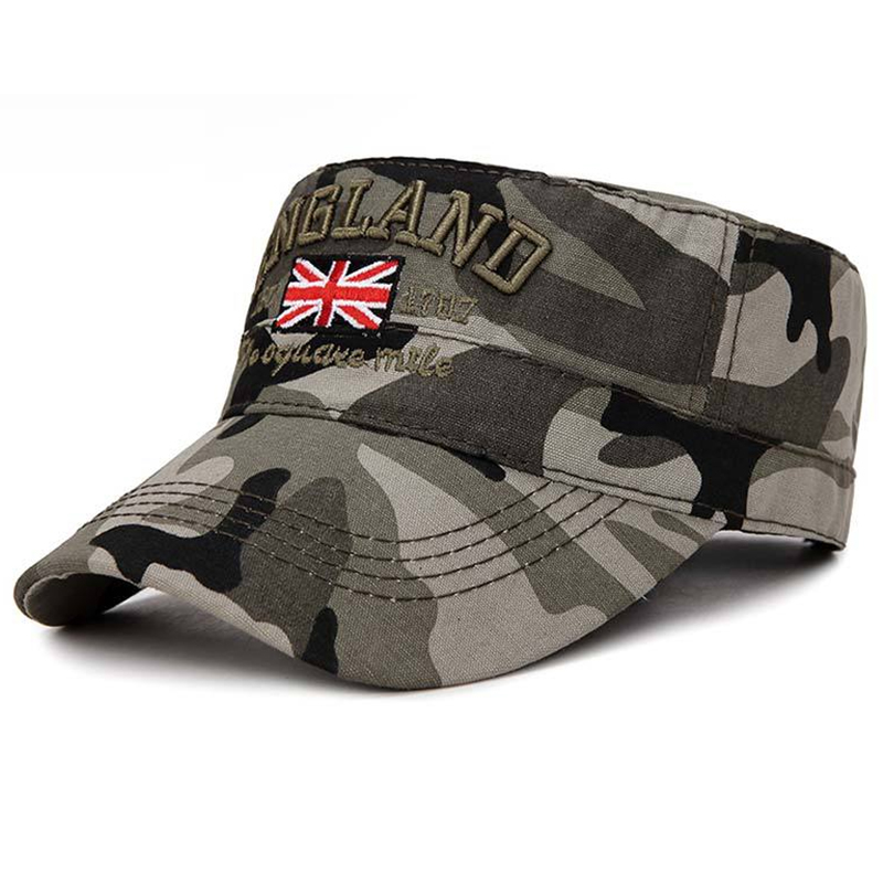UK flag embroidery camouflage military cap
