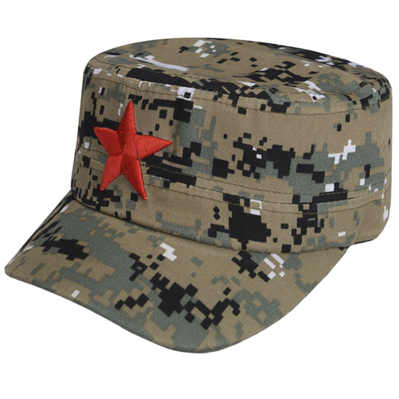 Digital camo army fatigue cap with embroidery logo