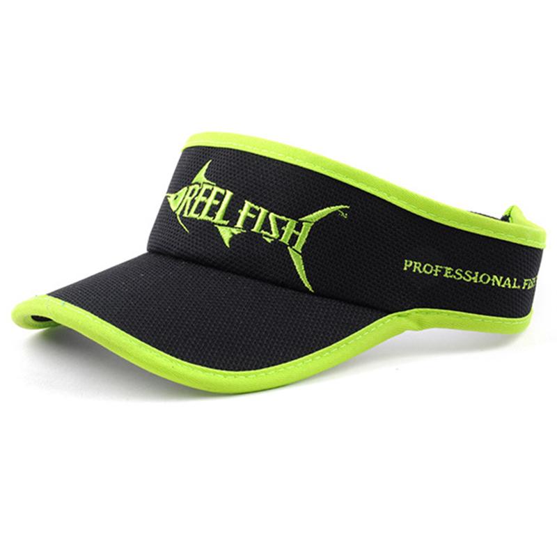 Moisture wicking polyester mesh visor style fishing hat