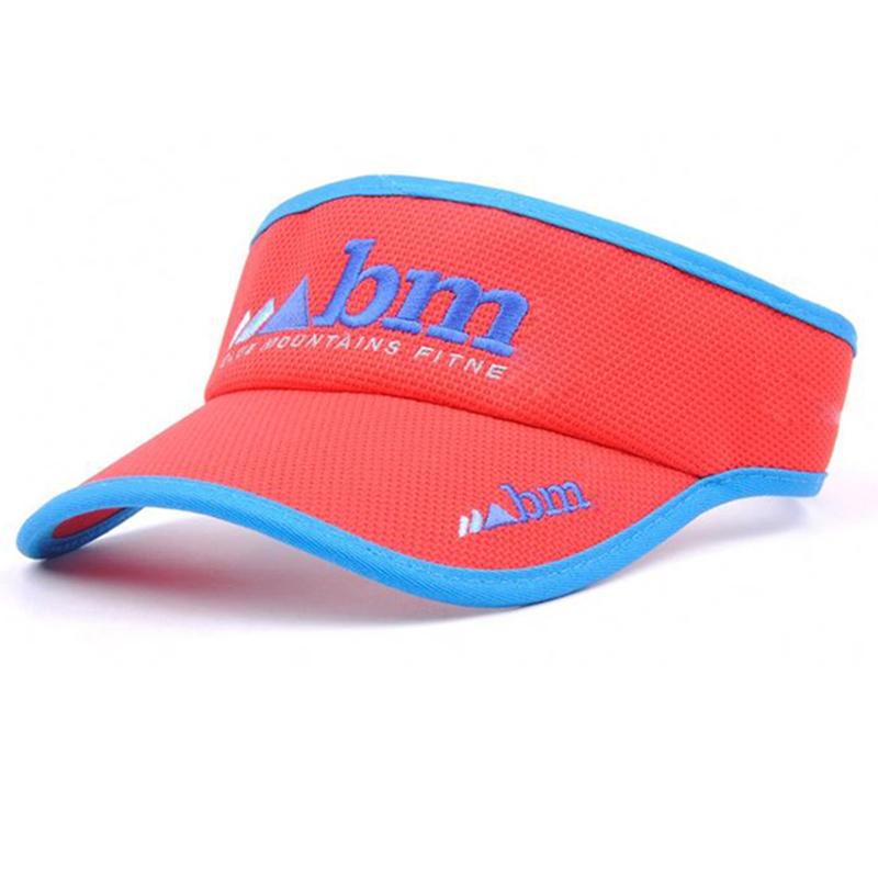 Embroidery logo visor style running hat