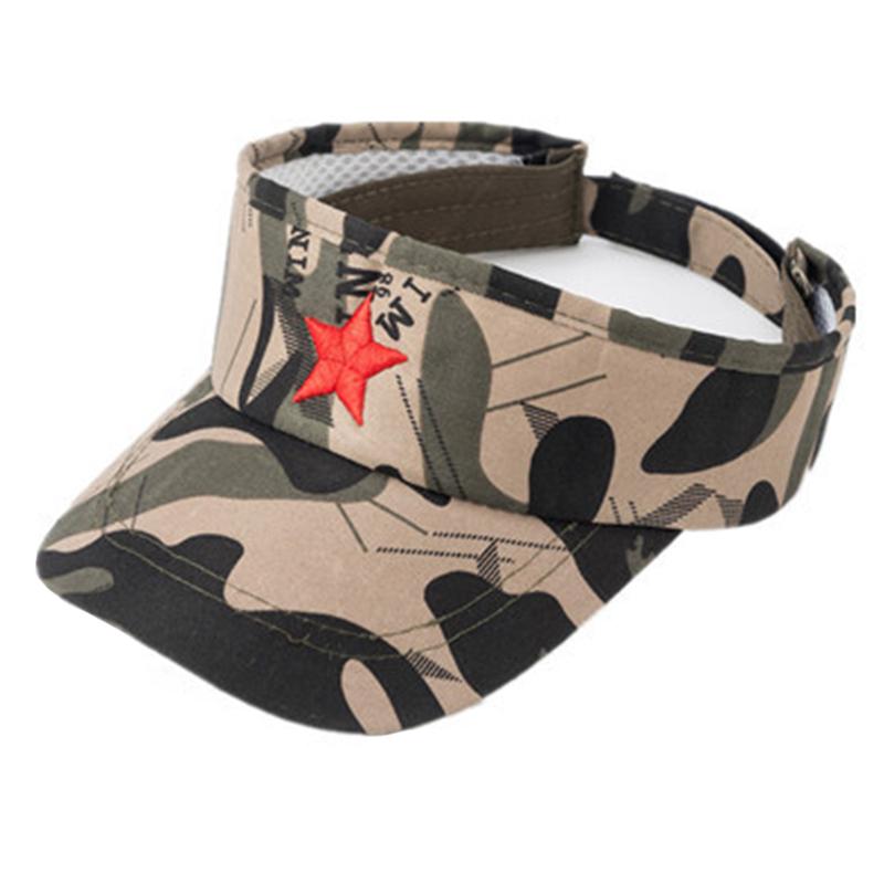 Camo color cotton crownless hat