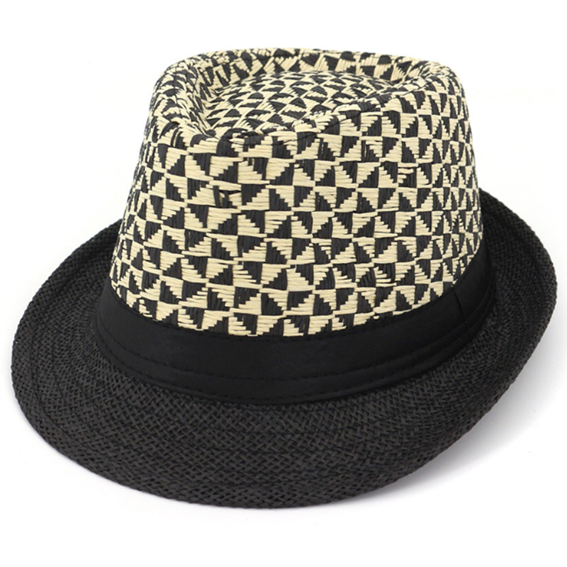 Popular design personalized two tone paper straw fedora hats