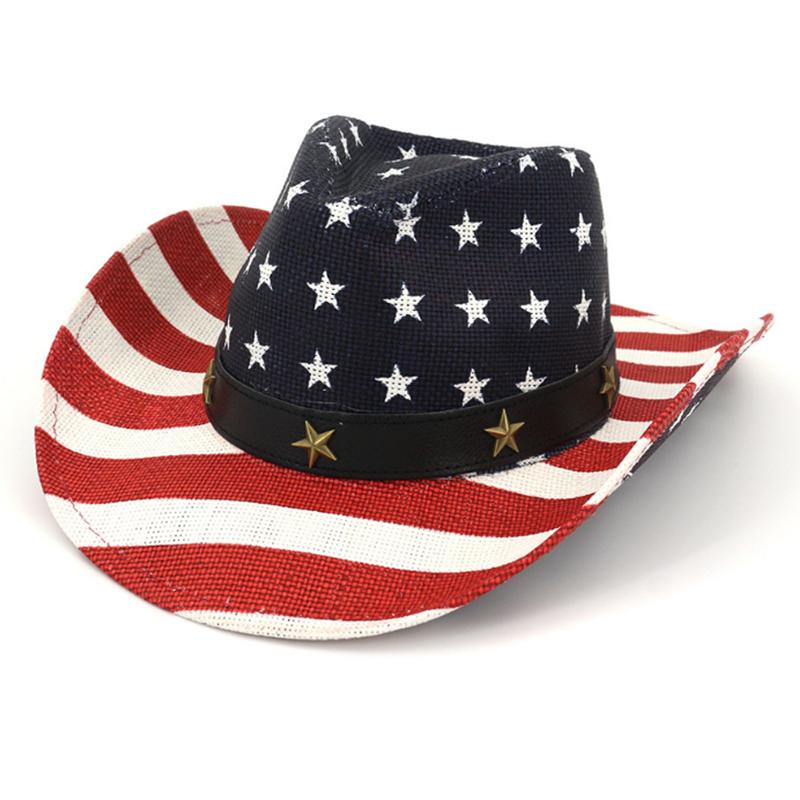 Bespoke fashion wholesale promotion USA flat pattern cowboy hat