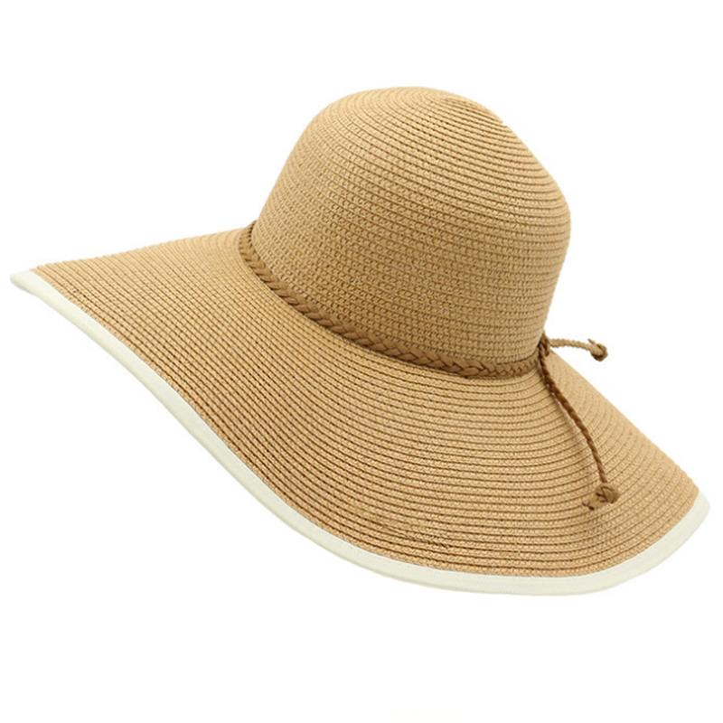 Super large brim girls' beach summer hat
