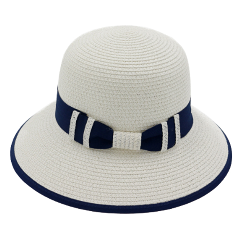 Wholesale women's foldable summer woven straw hat