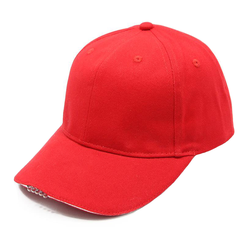 Wholesale promotional cotton blank 5 LED lighted cap