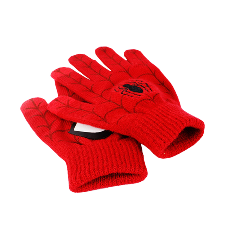 Customized wholesale winter acrylic knitted gloves with printing logo