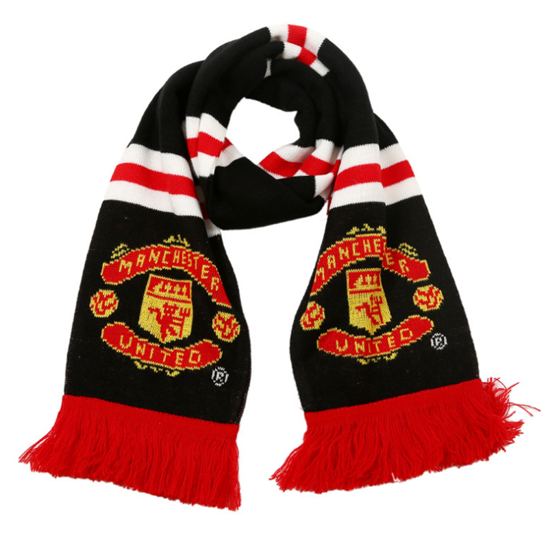 Custom made high quality football club knitted scarf